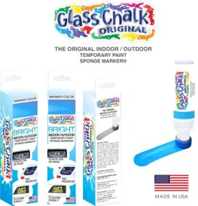 Glass Chalk® Blue Sponge Marker Single