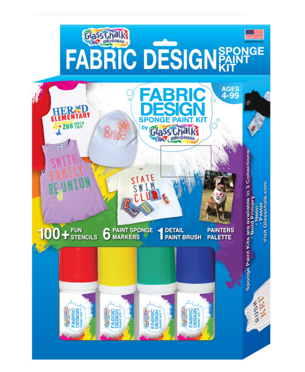 Glass Chalk Fabric Design Kit