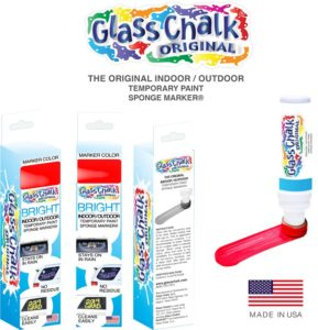 Glass Chalk® Red Sponge Marker Single